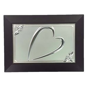Jewelry Box Small Silver Heart Gift Boxed
